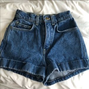American Apparel Jean Shorts size 23